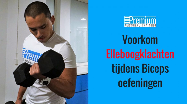 Voorkom elleboogklachten  tijdens Biceps oefeningen